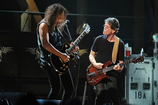 Kirk Hammett and Lou Reed