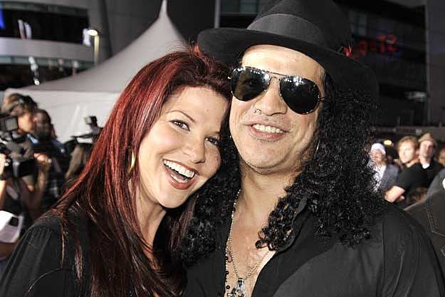 Slash and Wife Perla Renew Vows
