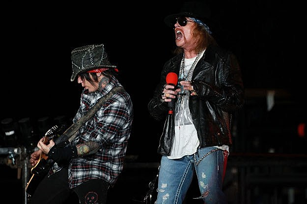 Axl Rose and DJ Ashba of Guns N' Roses