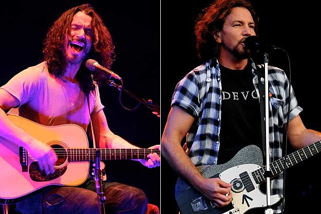 Eddie Vedder And Chris Cornell Chris Cornell Joins Pearl Jam