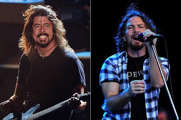 Foo Fighters ganadadores de 5 grammys - Eddie Vedder perdió la