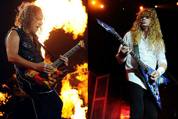 Kirk Hammett and Dave Mustaine