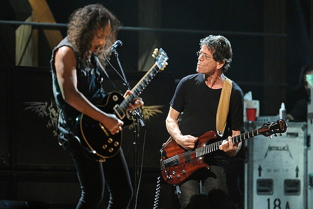 Kirk Hammett and Lou Reed
