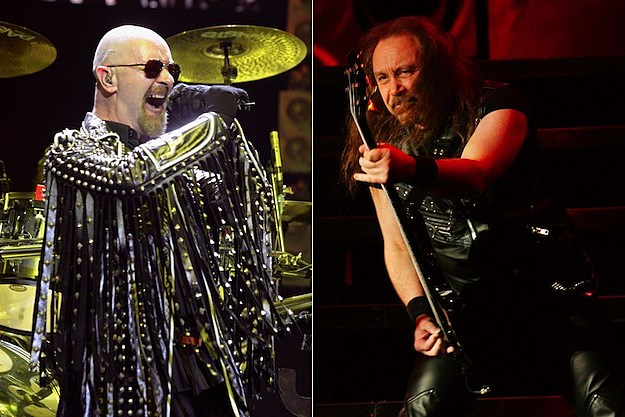 Rob Halford and Ian Hill of Judas Priest