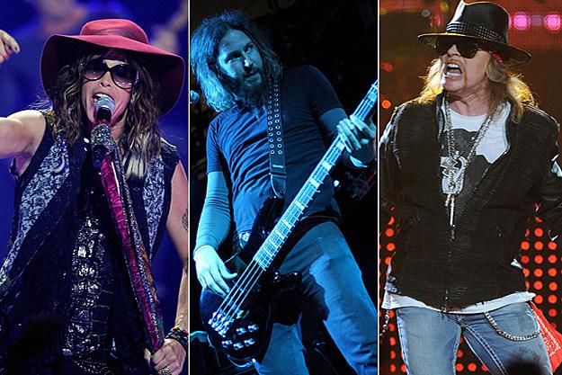 Aerosmith, Mastodon, Guns N' Roses