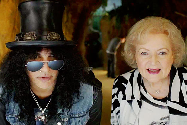 Slash and Betty White