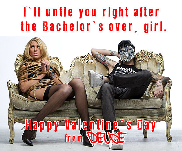 Deuce Valentine Day Card