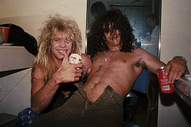 Steven Adler and Slash