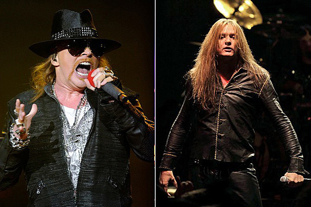 Axl Rose and Sebastian Bach