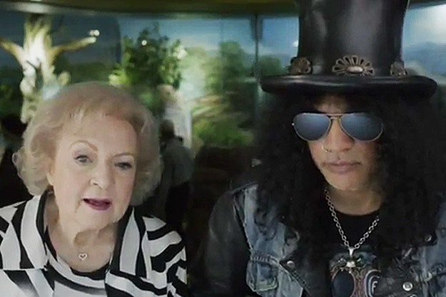 Betty White & Slash