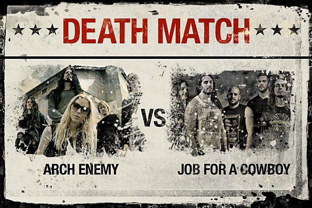 Arch Enemy vs. Job for a Cowboy