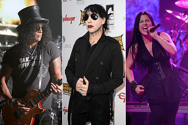 Slash, Marilyn Manson, and Amy Lee