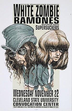 White Zombie / Ramones Poster