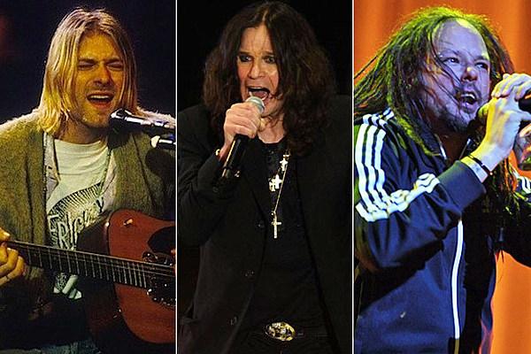 Kurt Cobain Worst Pre Fame Jobs : Kurt Cobain Ozzy Osbourne Jonathan Davis from loudwire.com size 600 x 400 jpeg 99kB
