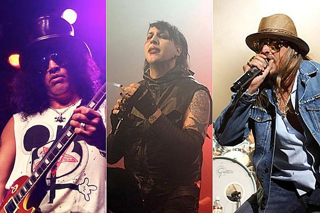 Slash / Marilyn Manson / Kid Rock