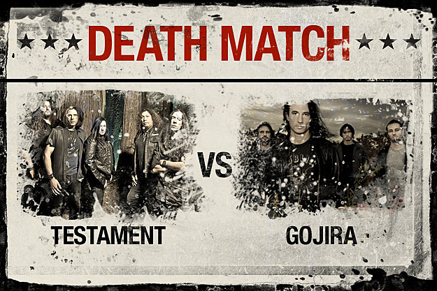 Testament vs. Gojira