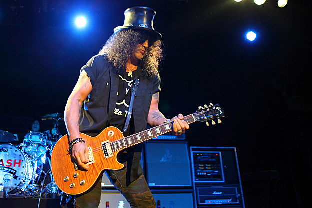 Slash playing guitar