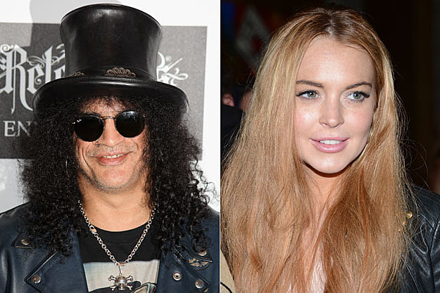 Slash and Lindsay Lohan