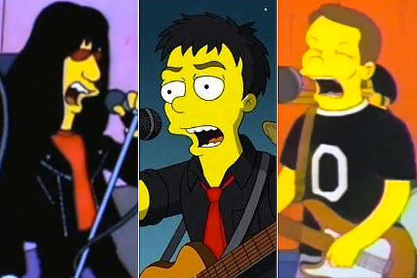 Rock Star Cameos on 'The Simpsons'