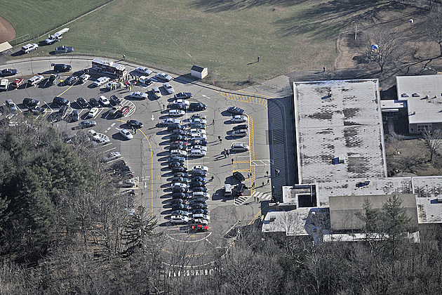 Aeiral View of Sandy Hook Elementary School