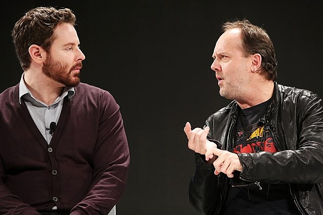 Sean Parker and Lars Ulrich