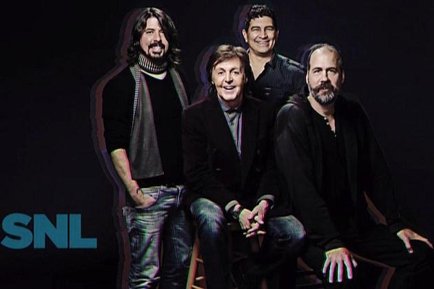 Dave Grohl, Paul McCartney, Pat Smear, Krist Novoselic