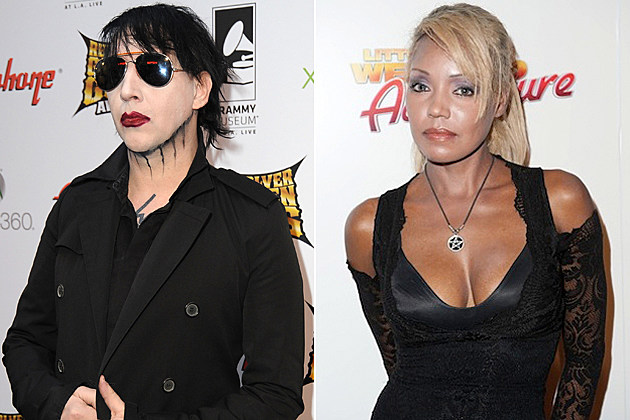 Side-by-side pics of Manson and his accused stalker from LoudWire.com