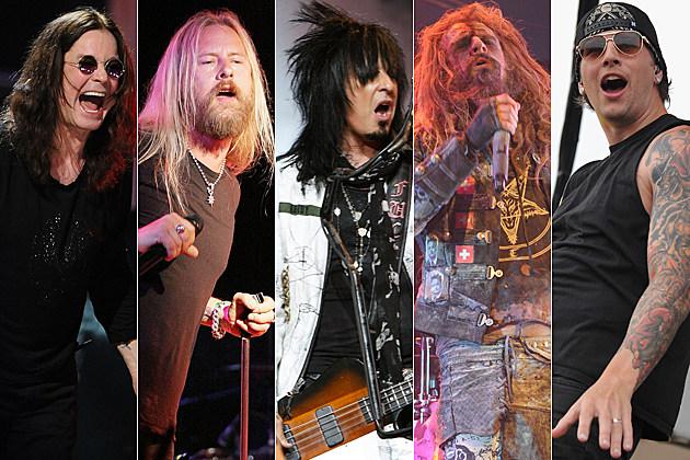 Ozzy Osbourne-Jerry Cantrell-Nikki Sixx-Rob Zombie-M. Shadows