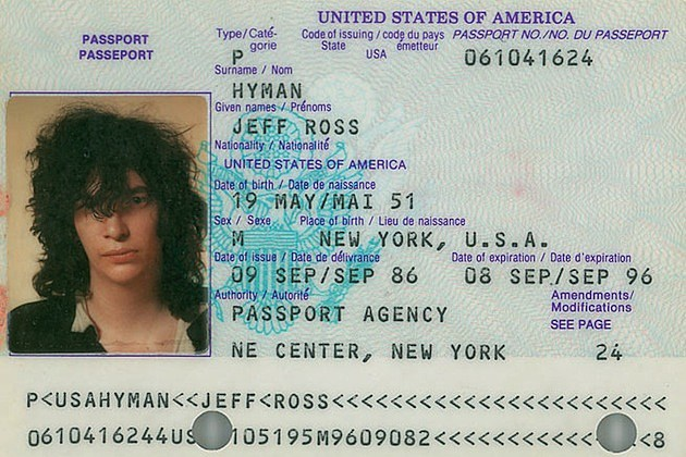 Joey Ramone Passport