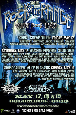 2013 rock on the range festival unveils daily lineups single day ticketing info. Black Bedroom Furniture Sets. Home Design Ideas