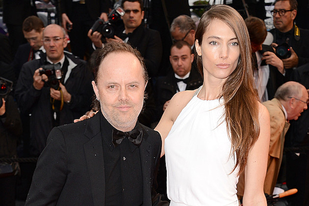 Lars Ulrich's Wife (someone get Lars a foot stool plz ...