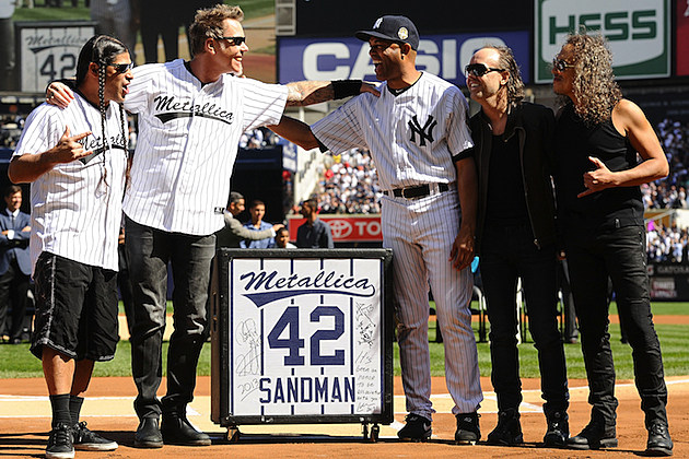 Metallica with Mariano Rivera