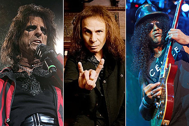 Alice Cooper, Ronnie James Dio, Slash
