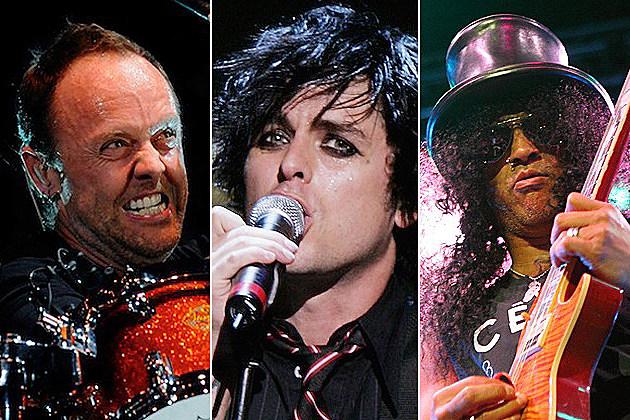 Lars Ulrich, Billie Joe Armstrong, Slash