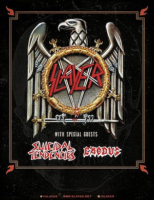 Slayer, Suicidal Tendencies + Exodus Tour
