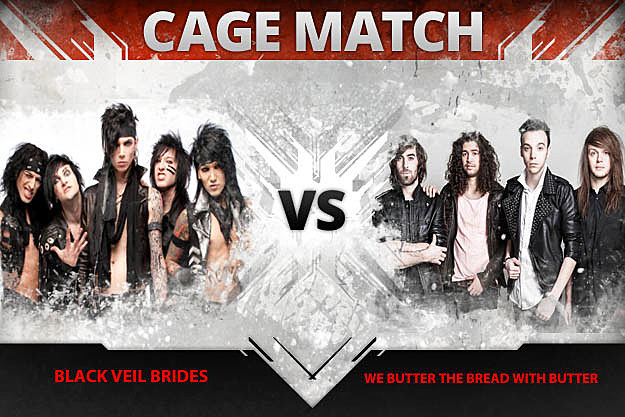 Black Veil Brides vs. We Butter the Bread With Butter
