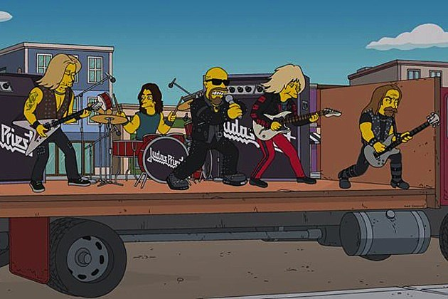 Judas Priest on 'The Simpsons'
