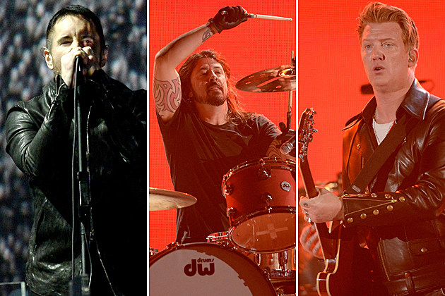 Trent Reznor Dave Grohl Josh Homme