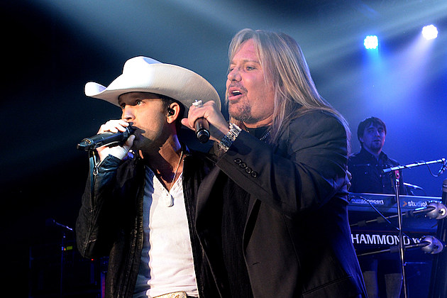 Justin Moore and Vince Neil