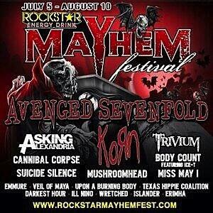 ... for the 2014 Rockstar Energy Drink Mayhem Festival has been announced