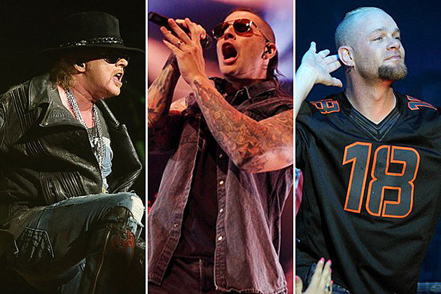 Guns N Roses Avenged Sevenfold Five Finger Death Punch