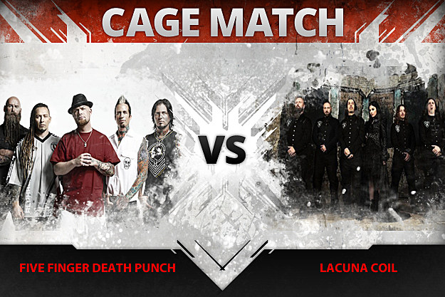 Five Finger Death Punch vs Lacuna Coil