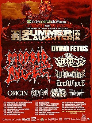 2014 Summer Slaughter Tour Poster
