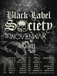Black Label Society 2014 Tour