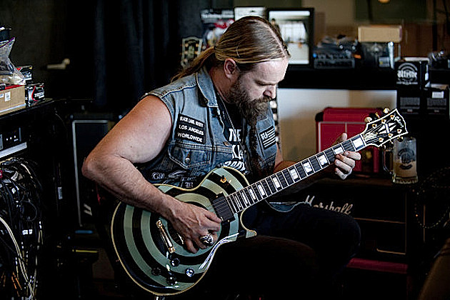 Zakk Wylde With Pelham Blue Guitar