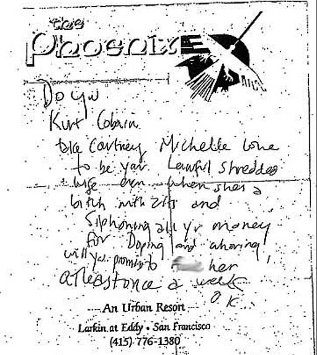 Kurt Cobain Letter