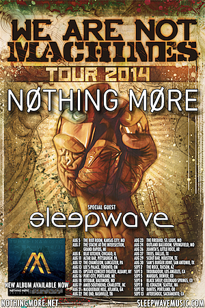 Nothing More Sleepwave Tour Poster