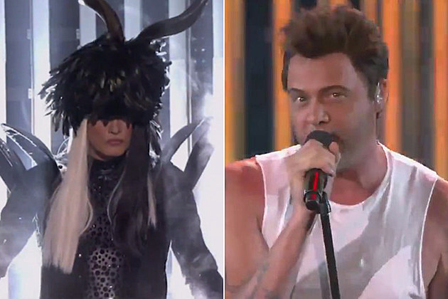 Sebastian Bach as Lady Gaga and Adam Levine