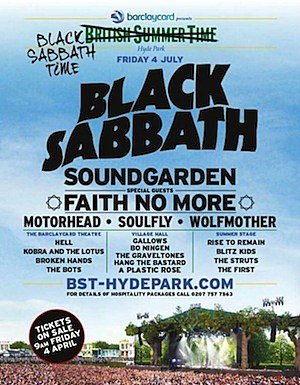 Black Sabbath British Summer Time