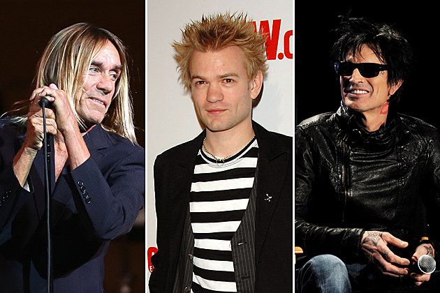 Iggy Pop Deryck Whibley Tommy Lee